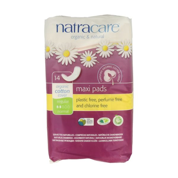 natracare maxi regular 14